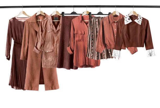 İzole kahverengi elbise stok fotoğrafı