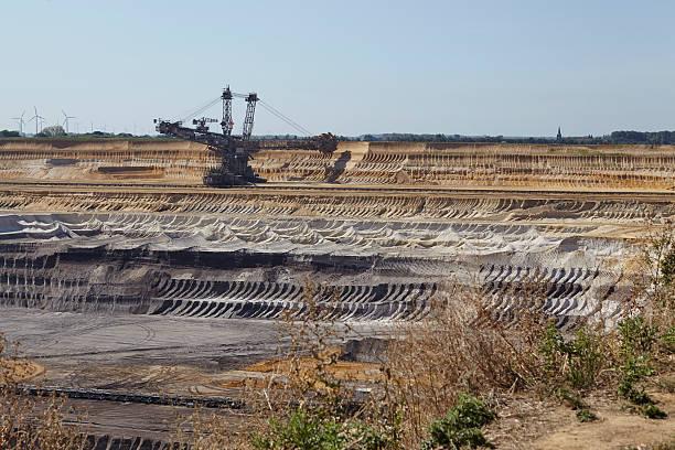 Brown coal - Bucket excavator at opencast mining Garzweiler (Germany) – Foto