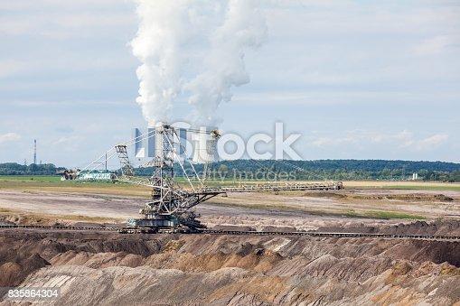 istock Brown coal mine 835864304