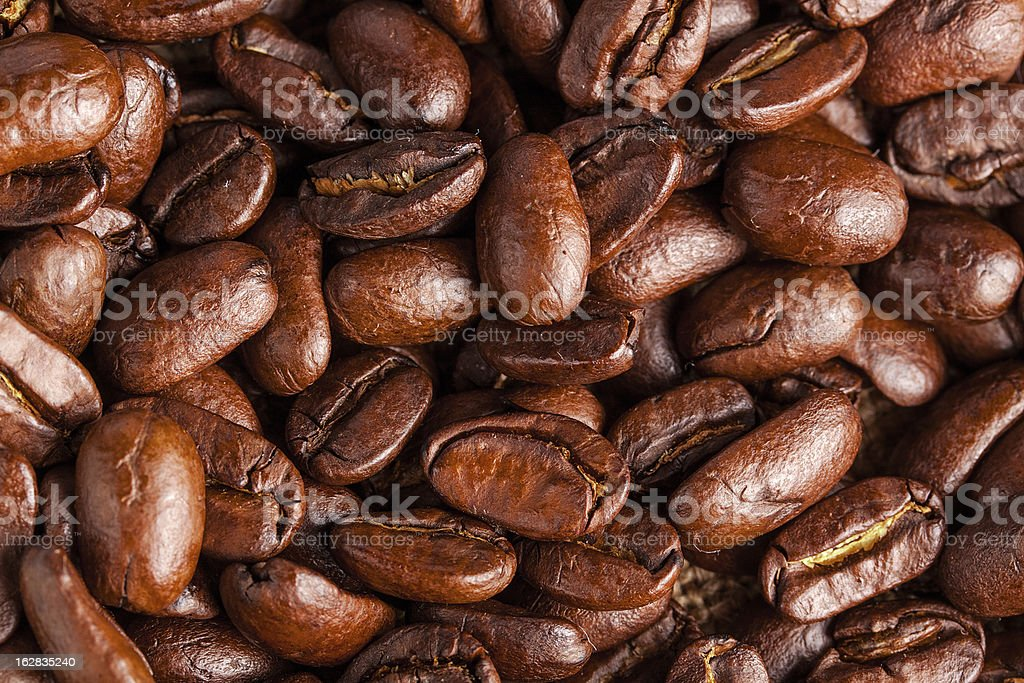 Brown coffee background. close-up royalty-free stock photo