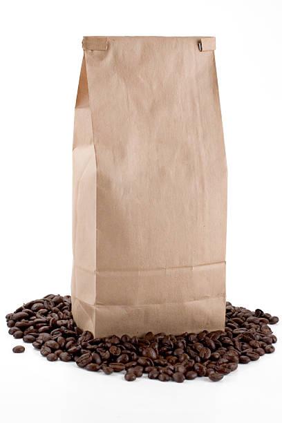 Brown Coffee Bag stock photo