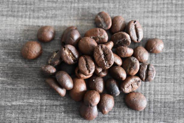 갈색 커피 콩 - 배경으로 사용할 수 있습니다 스톡 사진