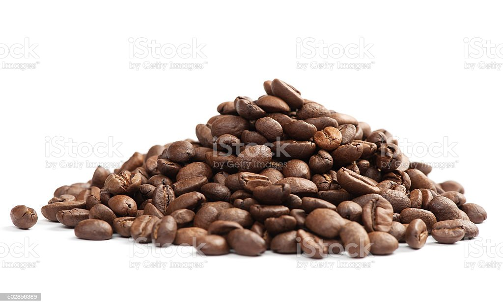 Brown coffee beans stock photo