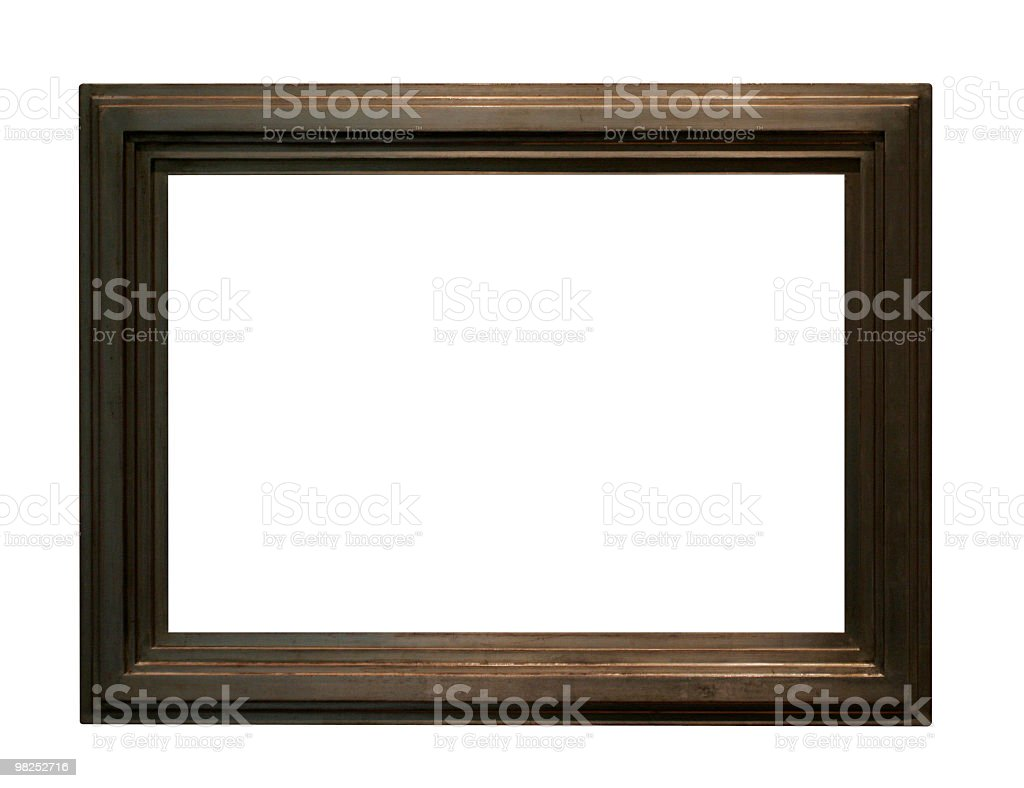 Brown colored frame to use in your design royalty-free stock photo