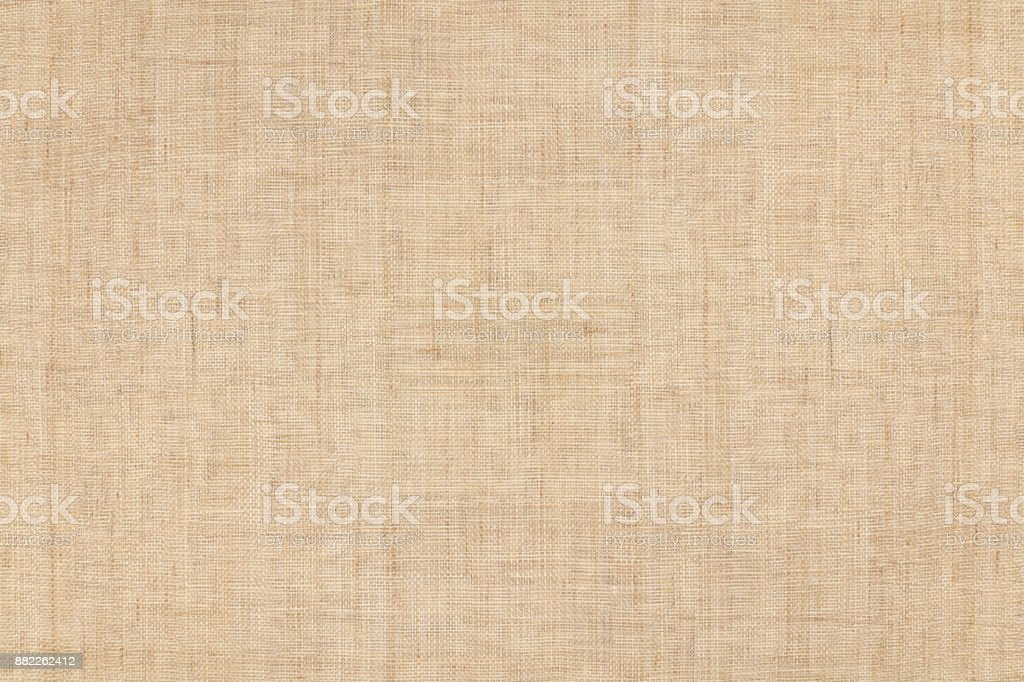 brown colored hemp cloth texture background stock photo