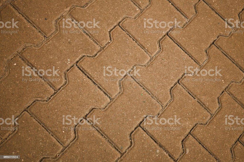 Brown Concrete Tile Floor, Wall, Fence zbiór zdjęć royalty-free