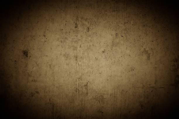brauner betonwand hintergrund mit dunklen vignetten ecken und rauen und rissigen strukturen im industrial design, braune Textur Wand. – Foto