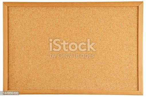 An empty cork bulletin or message board.