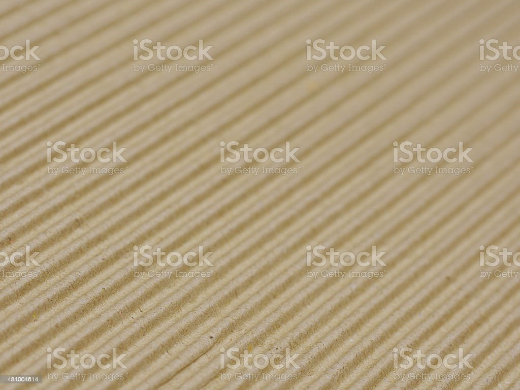 Brown corrugated cardboard background selective focus stock photo