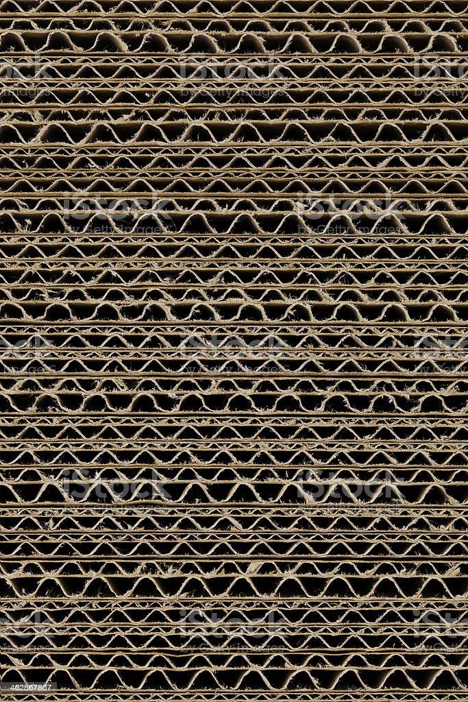 Brown corrugated cardboard stock photo