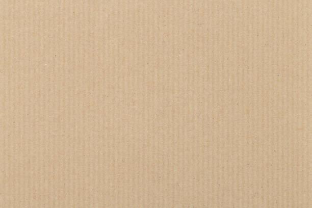brun ondulé fond de texture en carton - texture kraft photos et images de collection