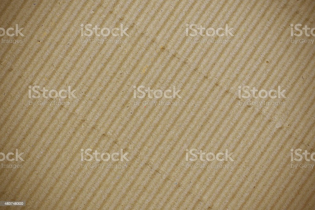 Brown corrugated cardboard use for background stock photo