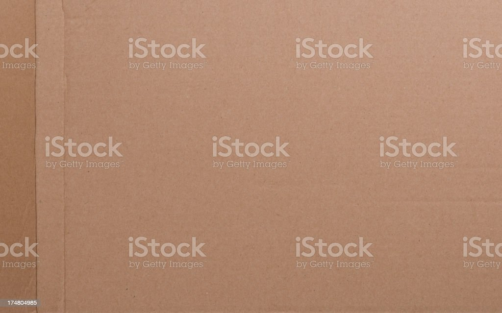 Brown corrugated paper cardboard royalty-free stock photo