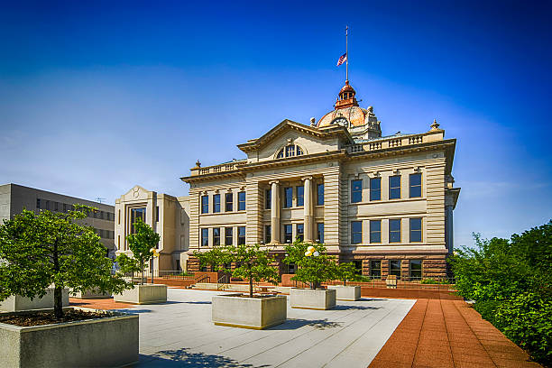 brown county courthouse building in green bay, wisconsin - green bay wisconsin stock photos and pictures