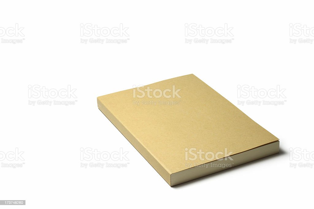 Brown Cover Book stock photo