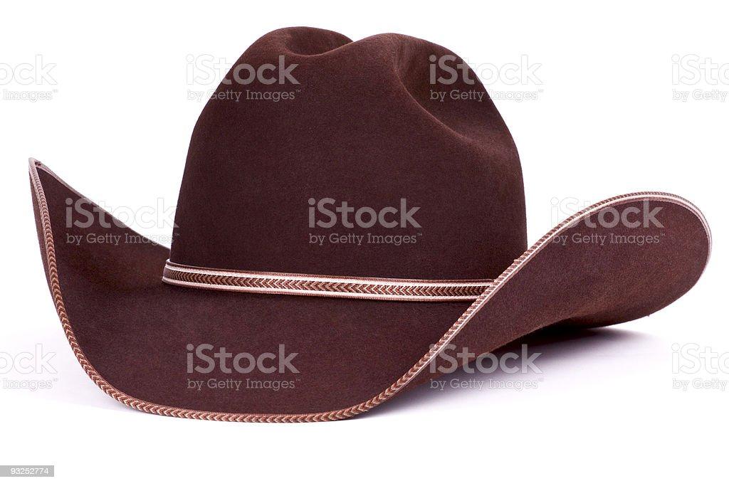 Brown cowboy hat. stock photo