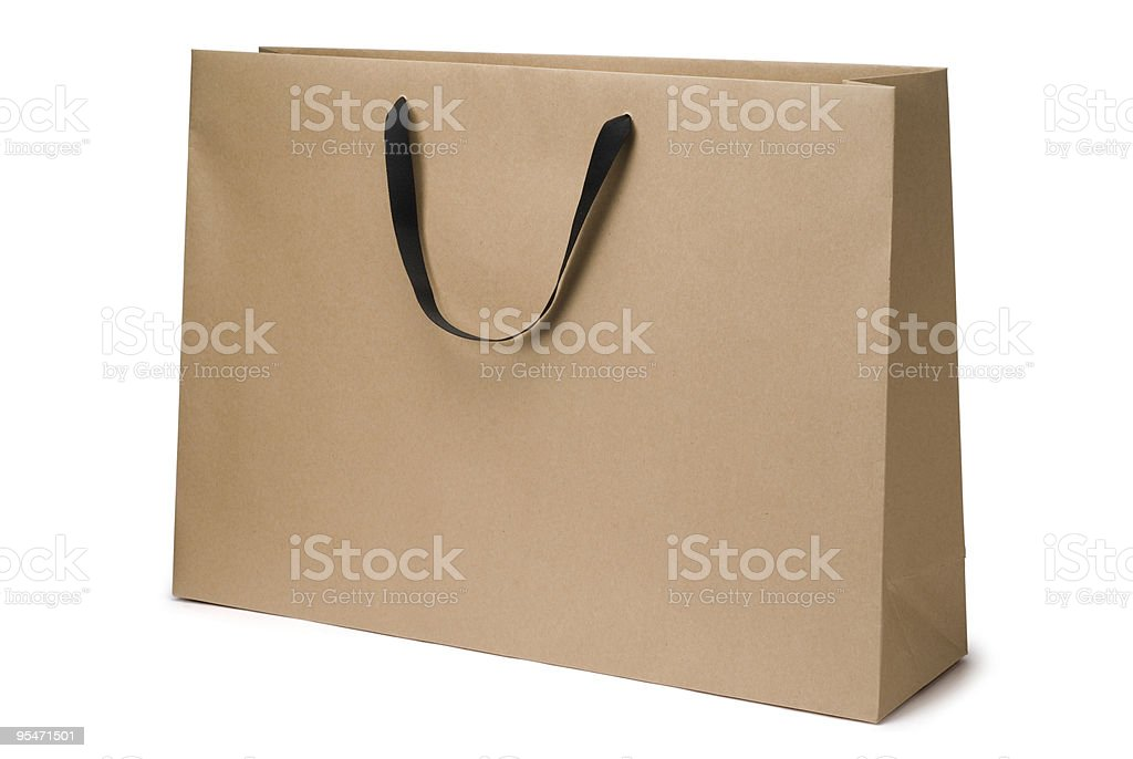 Brown craft paper bag royalty-free stock photo