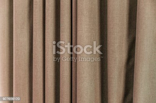istock Brown Curtain with Beautiful Sun Light and Shadow 927656120