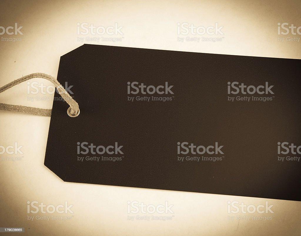 Brown Dark Tag stock photo