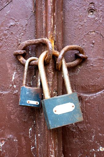Brown Door Double lock