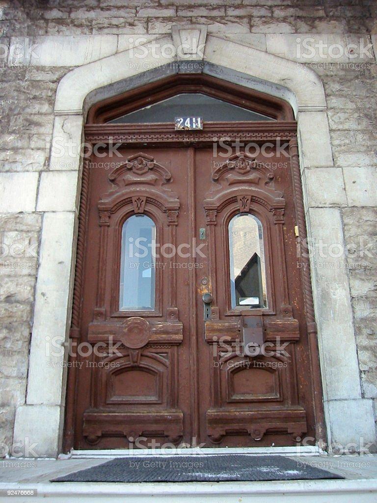 Brown Doors royalty-free stock photo