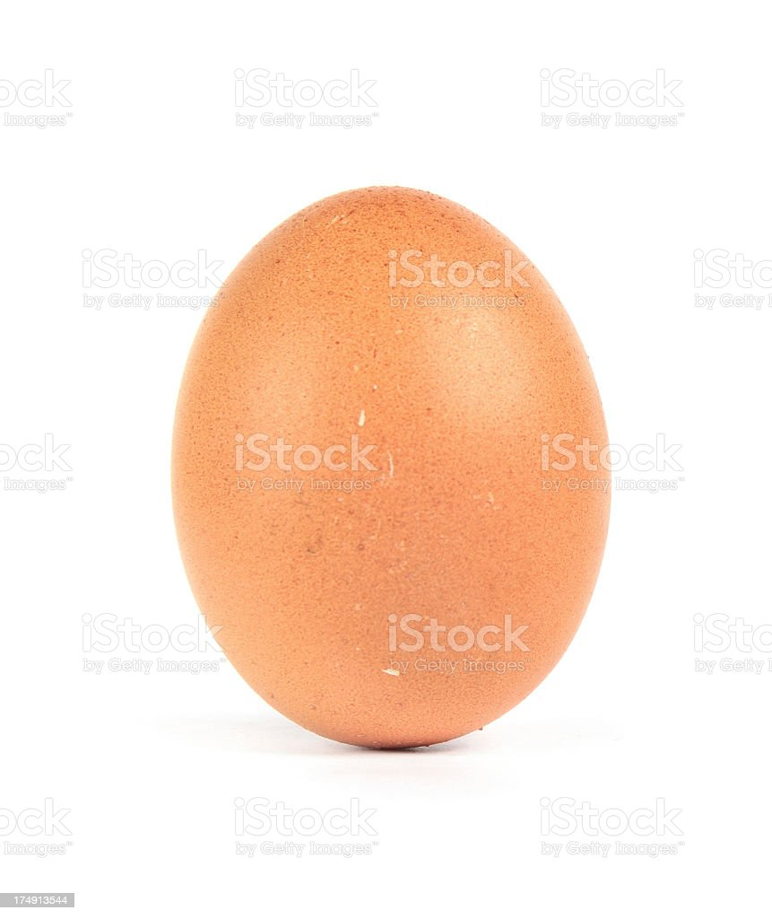 Brown Egg isolated on white royalty-free stock photo