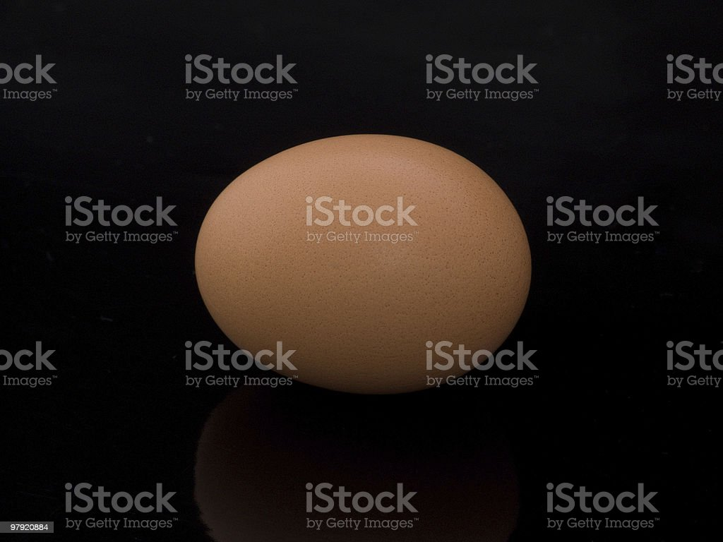 Brown egg royalty-free stock photo