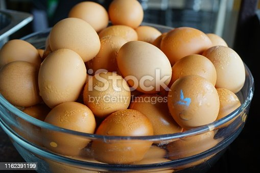Russia, Egg, Directly Above, Organic, Brown