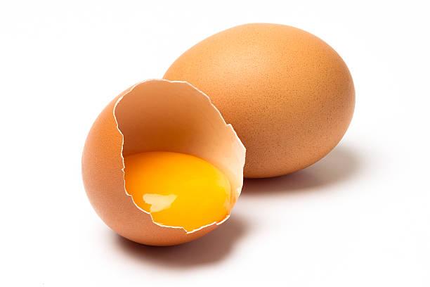 brown eggs - yumurta sarısı stok fotoğraflar ve resimler