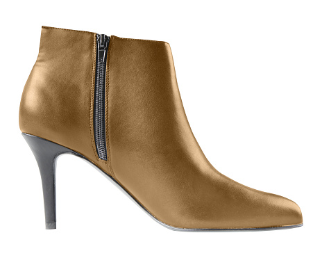 brown elegant party winter high heel ankle shoes with