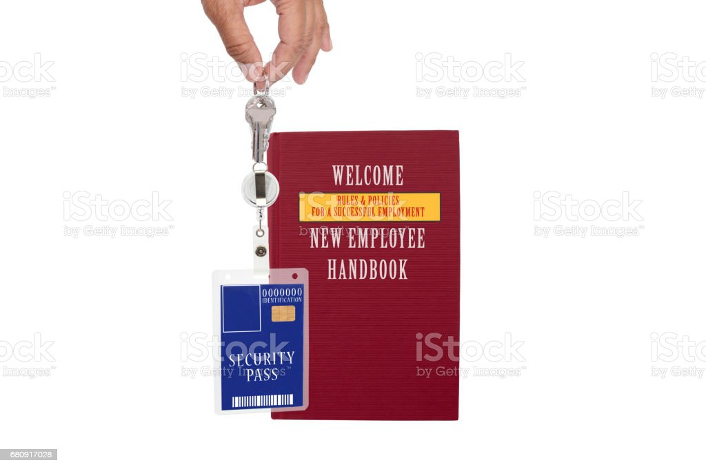 Brown Employee Manual Security ID Badge royalty-free stock photo