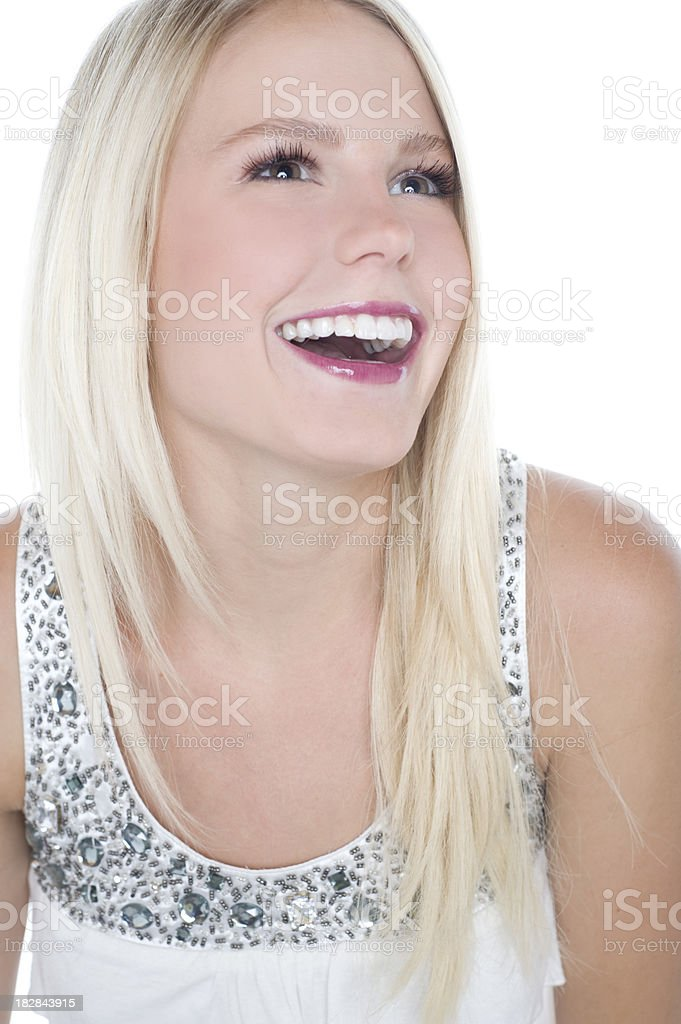 Brown Eyed Blond royalty-free stock photo