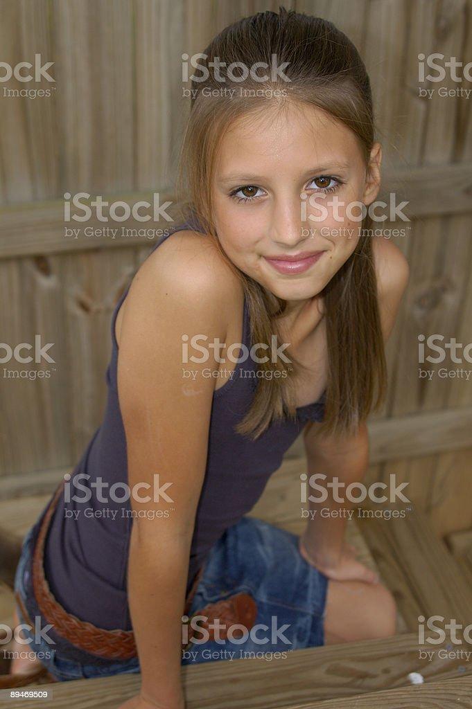 Brown Eyed Girl Lizenzfreies stock-foto