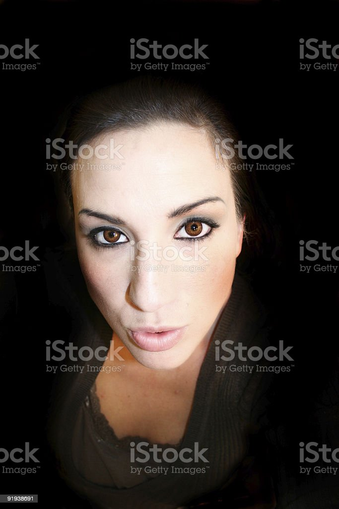Brown Eyed Woman stock photo