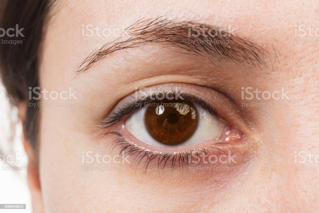 Bruine ogen - close-up foto