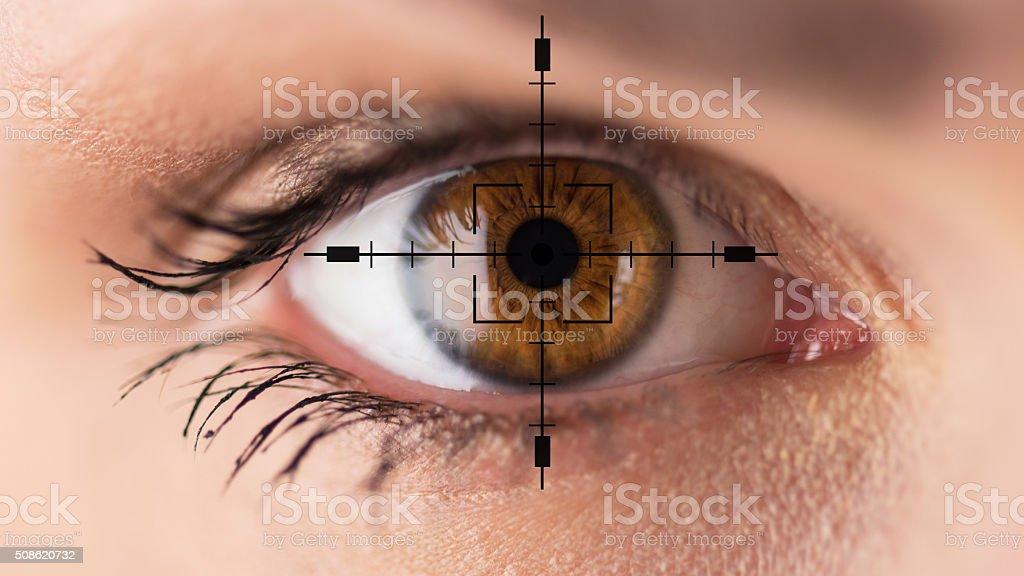 Braune Augen-Sehkraft Tests – Foto