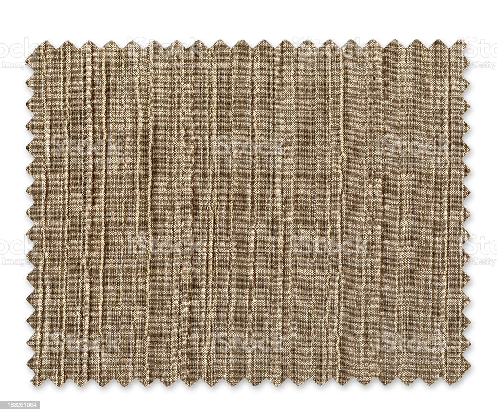 Brown Fabric Swatch royalty-free stock photo