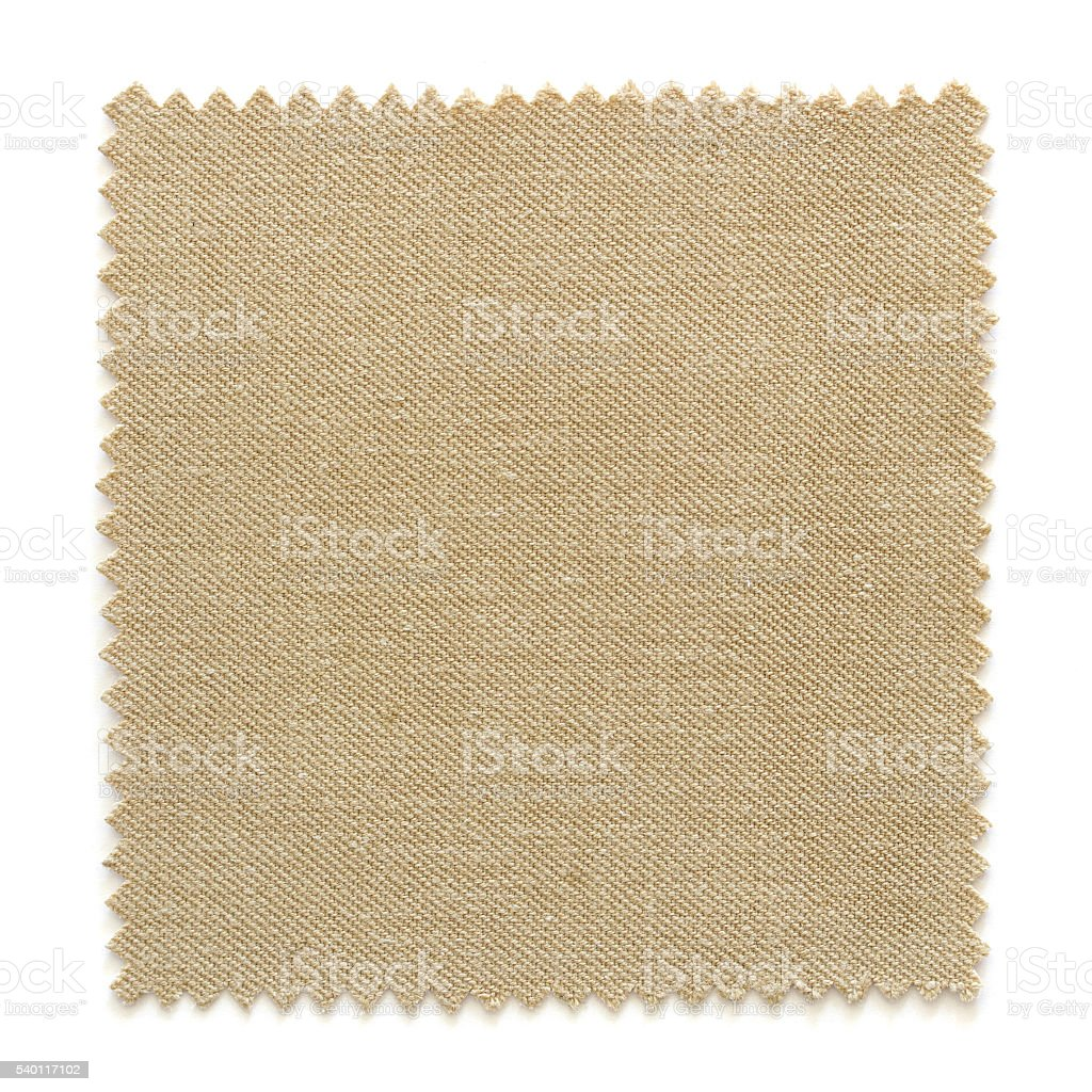 Brown fabric swatch samples isolated on white stock photo