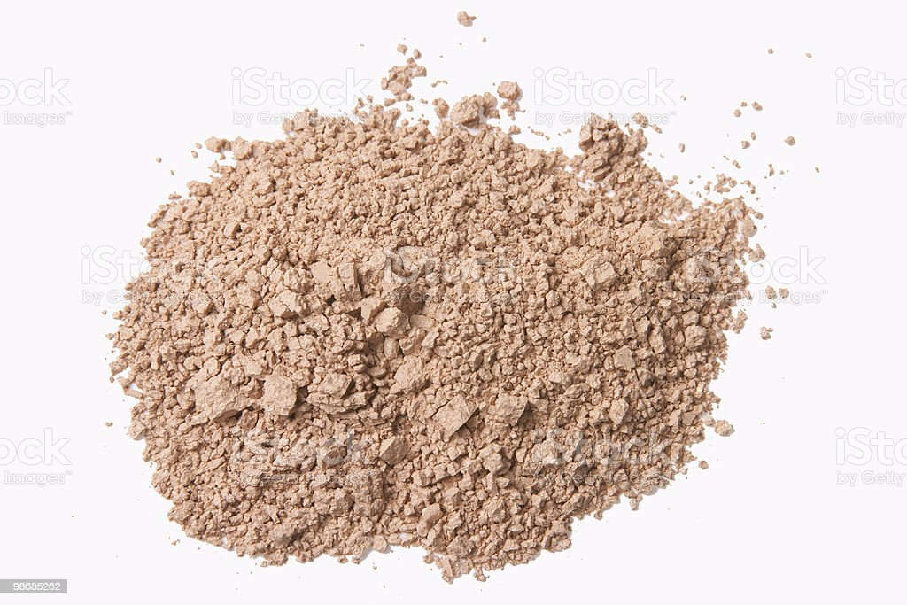 Brown face powder for beautiful women royalty-free stock photo