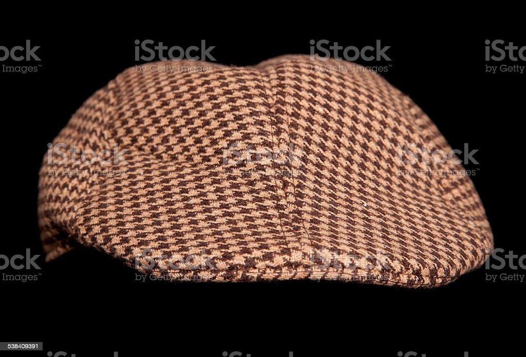 brown farmers flatcap stock photo