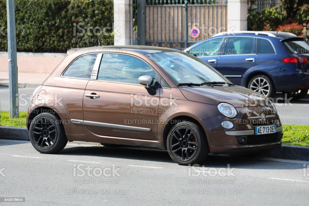 Brown Fiat 500 By Diesel Stock Photo Download Image Now