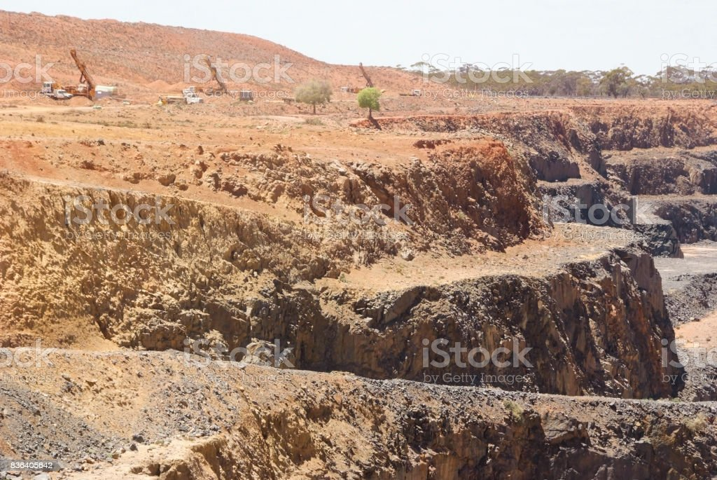 Brown Fields Exploration RC Drilling stock photo