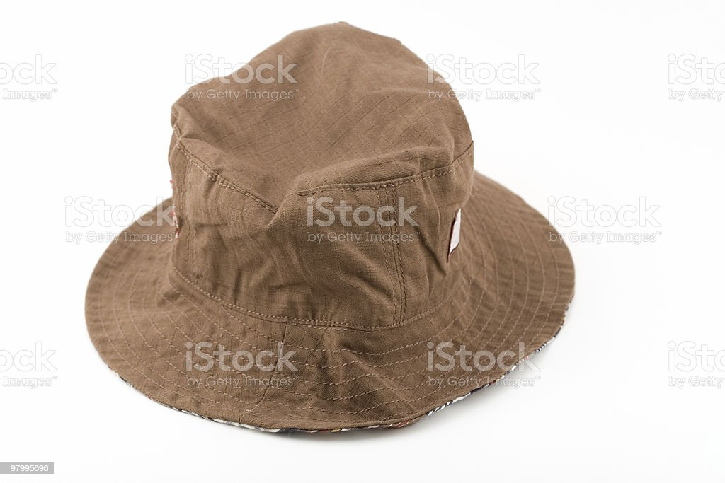 Brown Fishing Hat royalty-free stock photo
