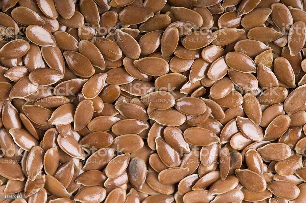 brown flax seed royalty-free stock photo