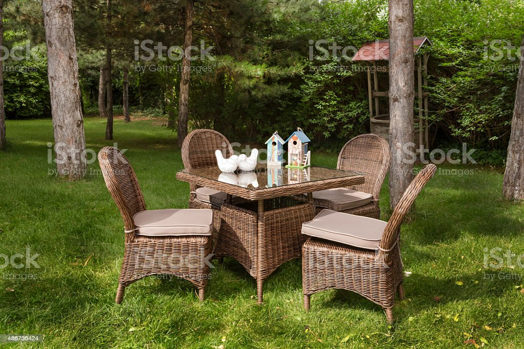 back deck with outdoor furniture.