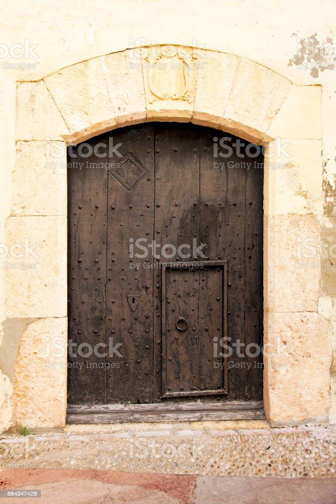 Brown gate stock photo