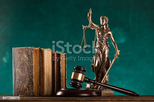 istock brown gavel with statue of justice 847266670