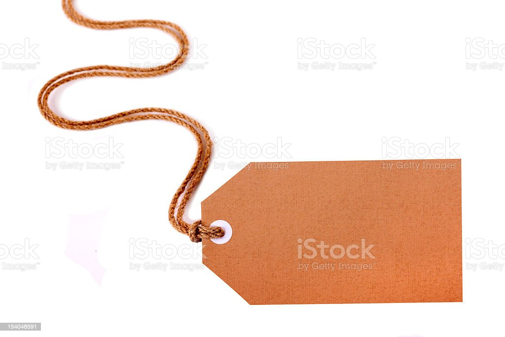 Brown gift tag or label royalty-free stock photo