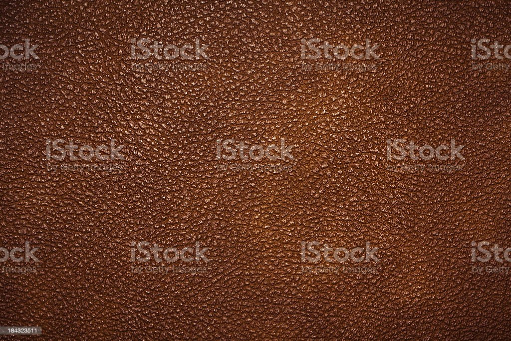 Brown Glossy Leather, Texture Background stock photo