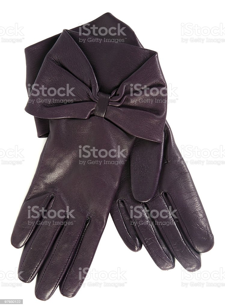 Brown glove royalty-free stock photo